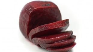 Salty beetroot smoothie with celery